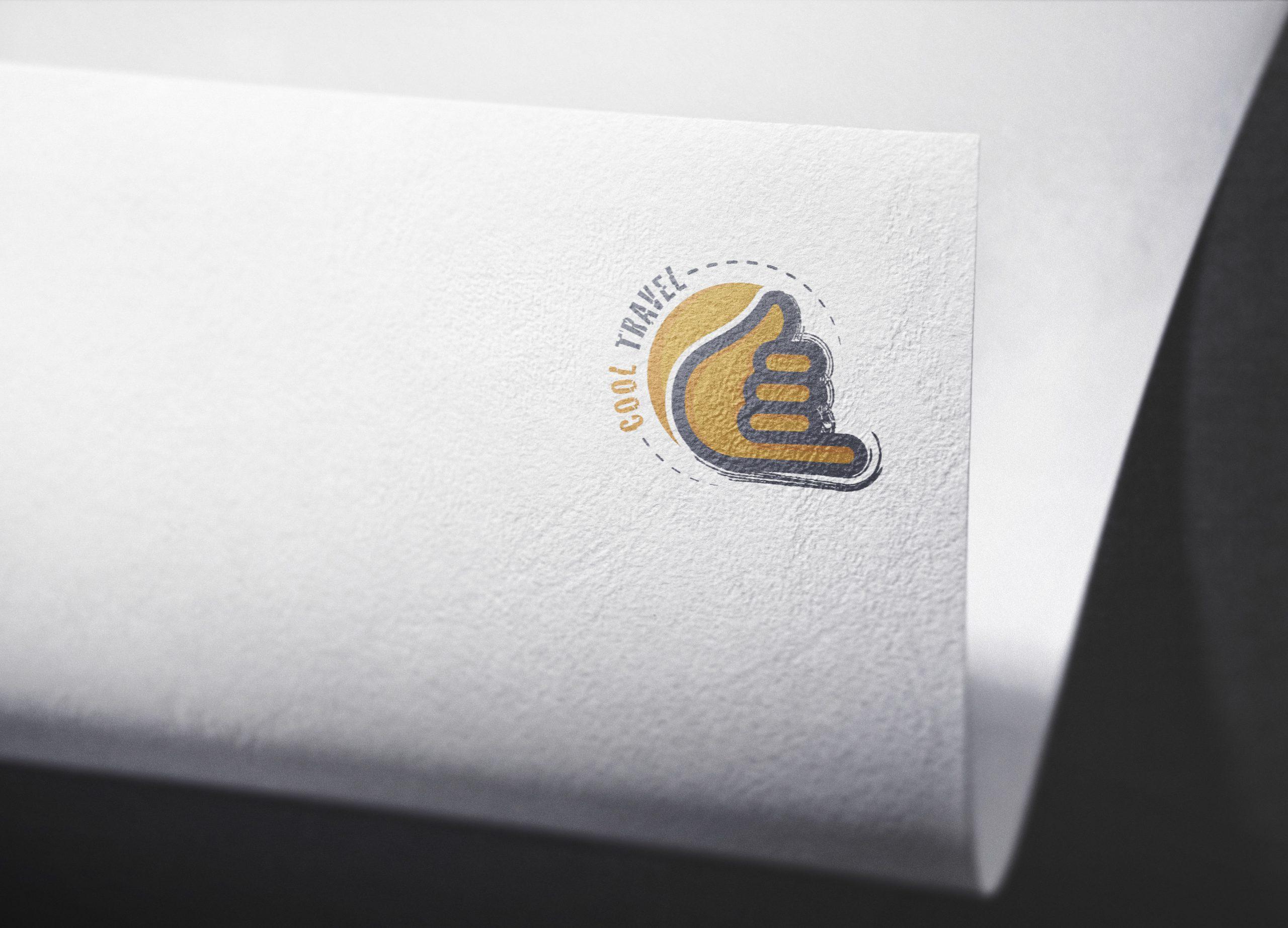 Logo Mockup Curved Paper