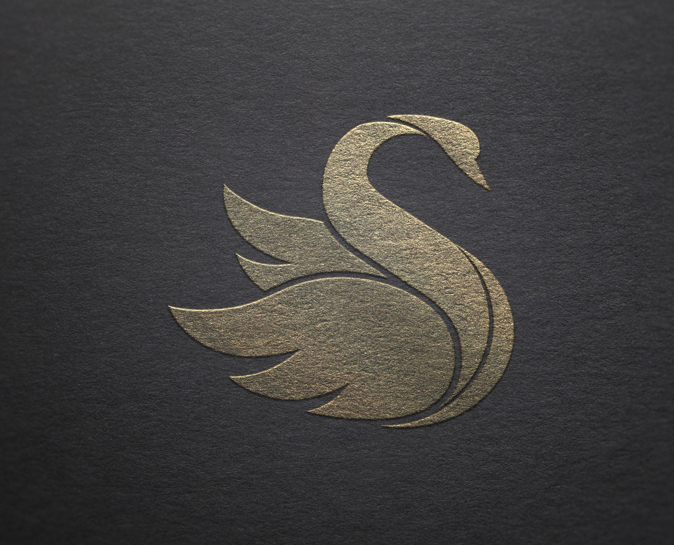 Logo Mockup Silver & Gold