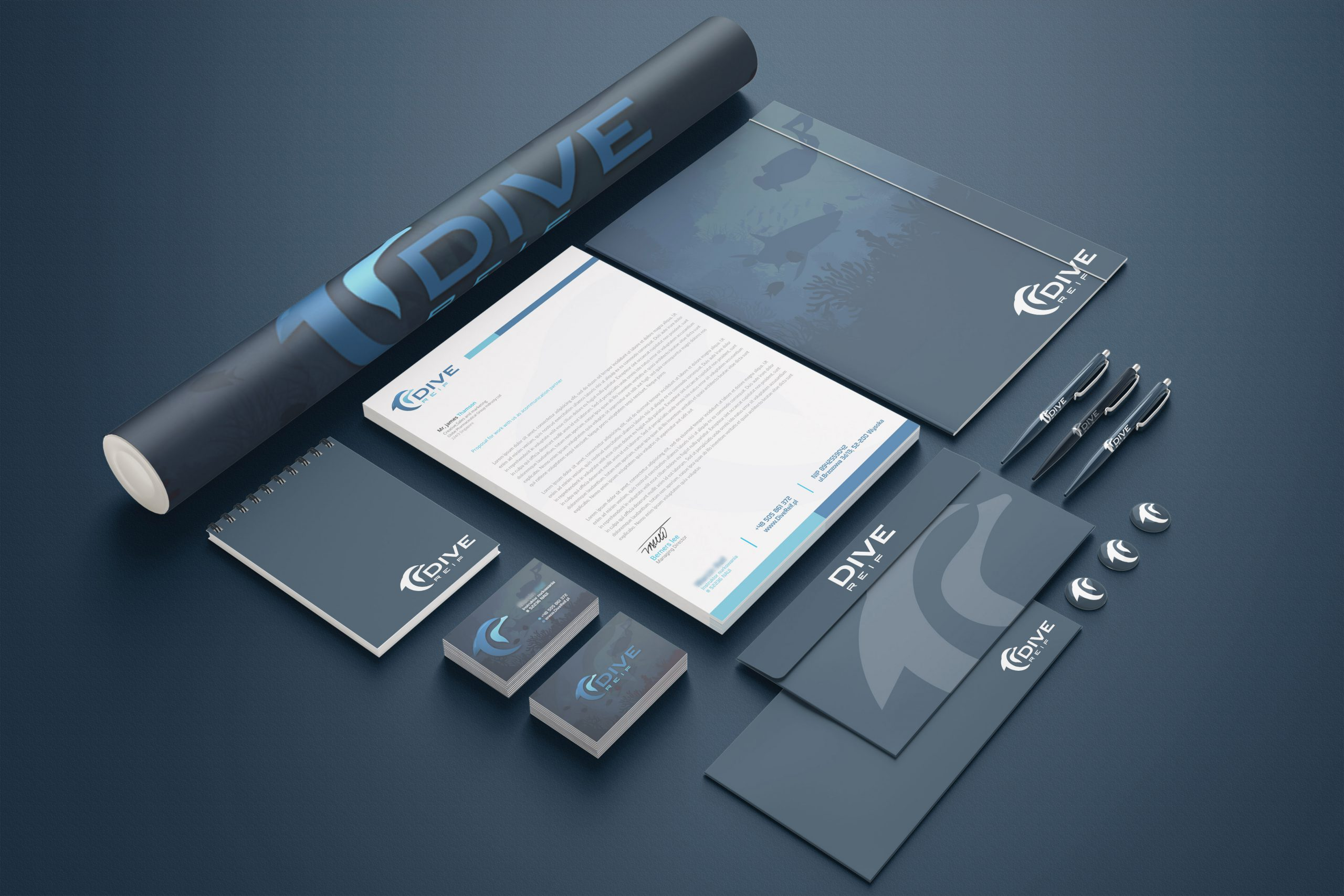 Branding identity mock-up set