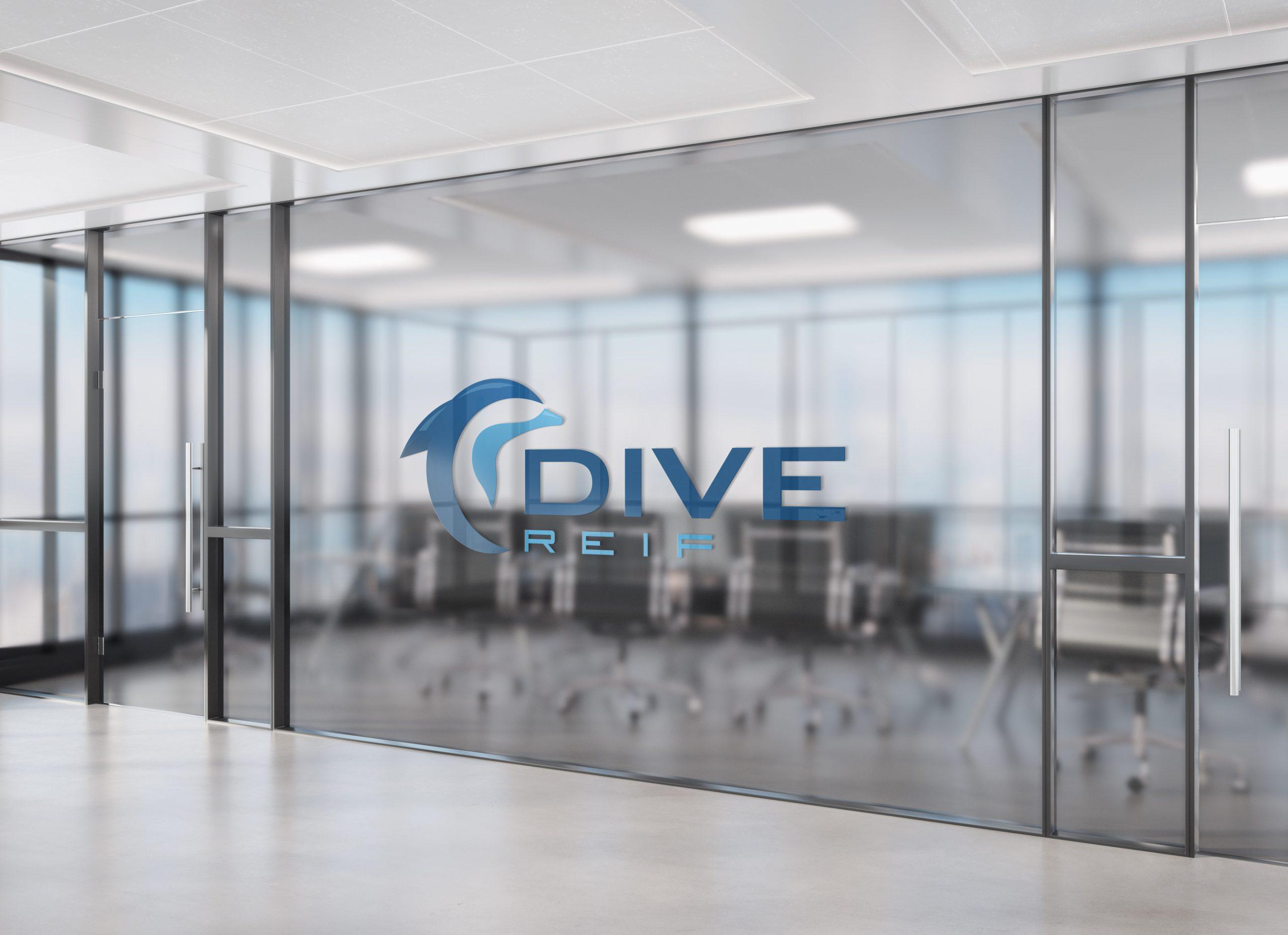 Logo on office tinted window Mockup