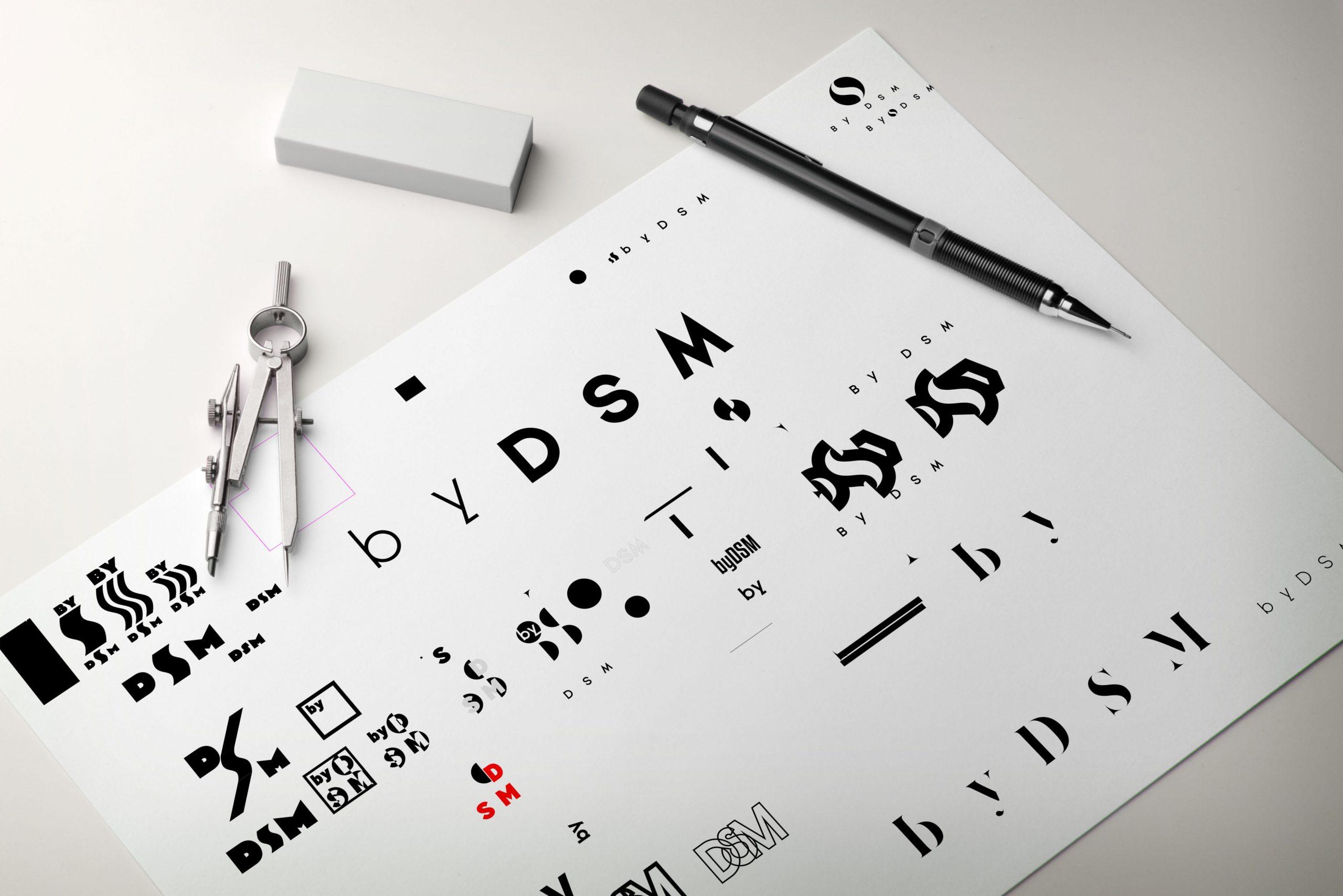 mockup logo szkice